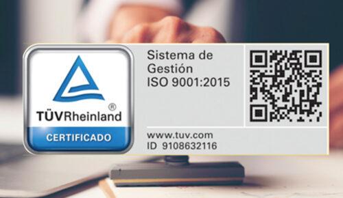 En el año 2015 certificamos nuestro taller con la norma de calidad Internacional ISO 9001:2015, la cual nos ordenó y profesionalizó todos nuestros procesos